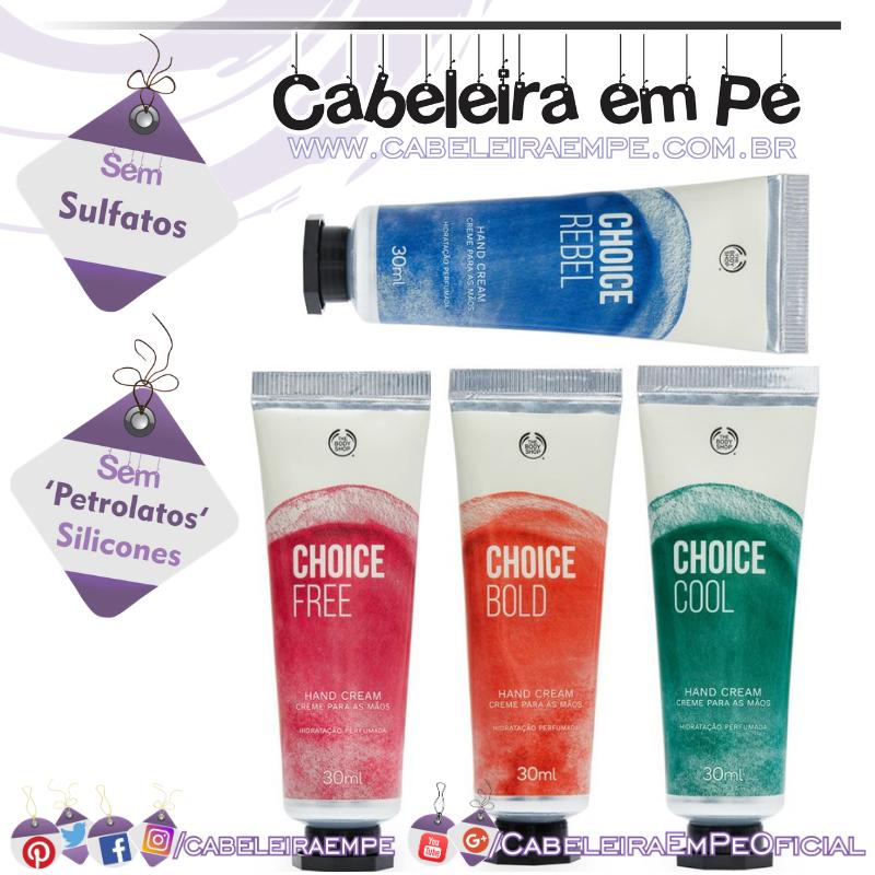 Creme Para as Mãos Choice - The Body Shop (Cool, Bold, Free e Rebel)