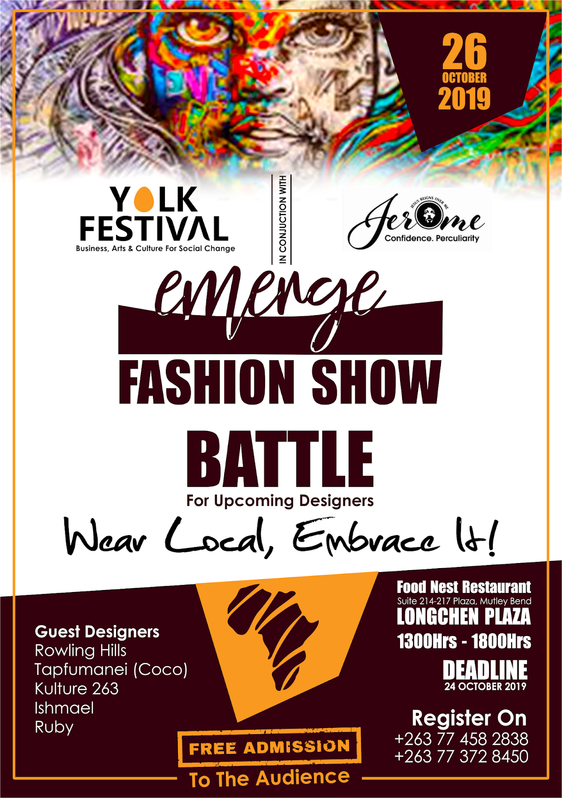 Yolk Festival and Jerome Wear Host Emerge Fashion Festival 2019