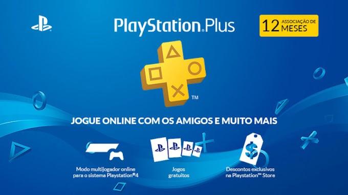 Assinatura do PlayStation Plus por 12 meses com 25% de desconto