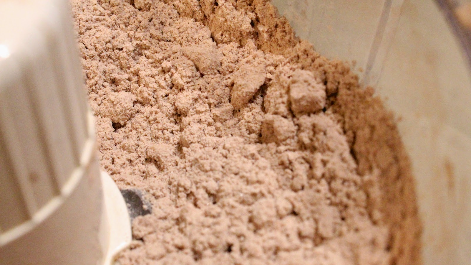flour mixture in food processor
