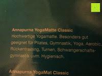 geeignet: Yogamatte »Annapurna Classic« / Die ideale Yoga- und Gymnastikmatte für Yoga-Einsteiger. Maße: 183 x 61 x 0,3cm, in vielen Farben erhältlich.