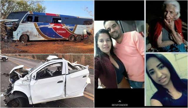 Minas Gerais: Grave Acidente entre carro e ônibus de turismo mata quatro pessoas de Macaúbas