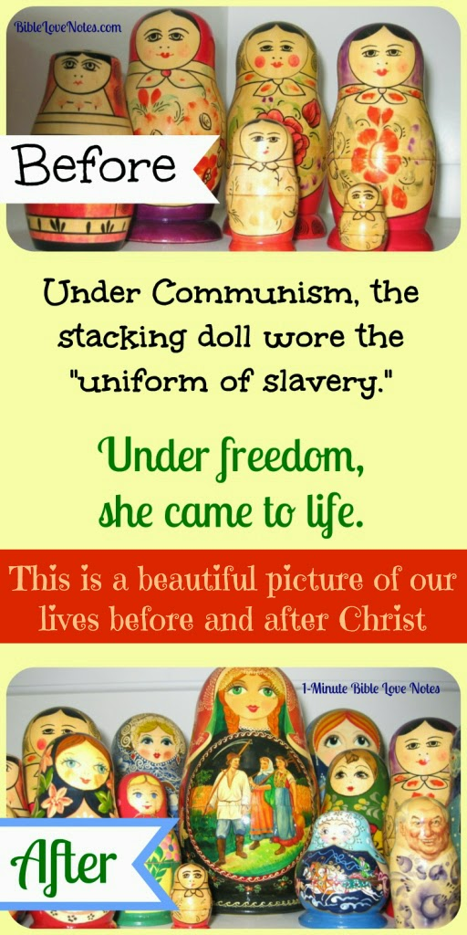 My freedom from slavery to sin, Russian stacking dolls, U.S.S.R.