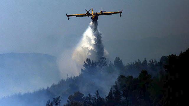 Φωτιά κοντά στο Σοφικό Κορινθίας - 4 αεροσκάφη και 3 ελικόπτερα στην κατάσβεση