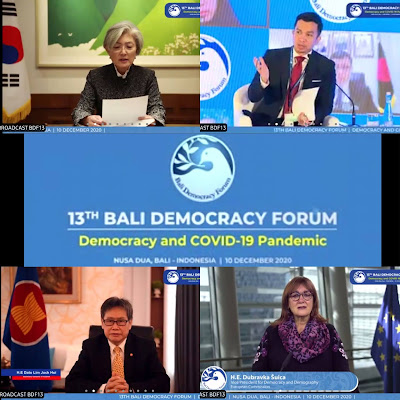 Partisipasi Negara Sahabat di Bali Democracy 2020