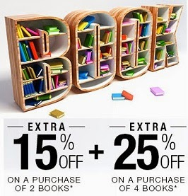 Extra 15% Extra Off (On Purchase of 2 Books) & 25% Extra Off (On Purchase of 4 Books) on All Kind of Books at Flipkart