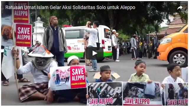 Ratusan Umat Muslim di Solo Gelar Aksi Solidaritas Untuk Muslim Aleppo