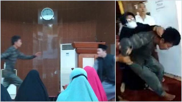 Rahang Ustadz Dihantam Saat Ceramah, Pelakunya Disebut Gangguan Jiwa
