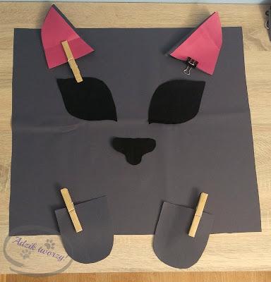 Adzik tworzy - torebka-kot DIY z podszewką i zamkiem jak uszyć