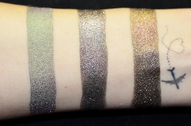 Пигменты призматики Sinart № 31- Green Red, № 68- gold –red green, № 79-Gold pink blue, переливающиеся тени, тени-хамелеон