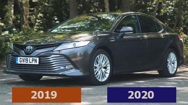 الفرق بين تويوتا كامري 2019 و 2020