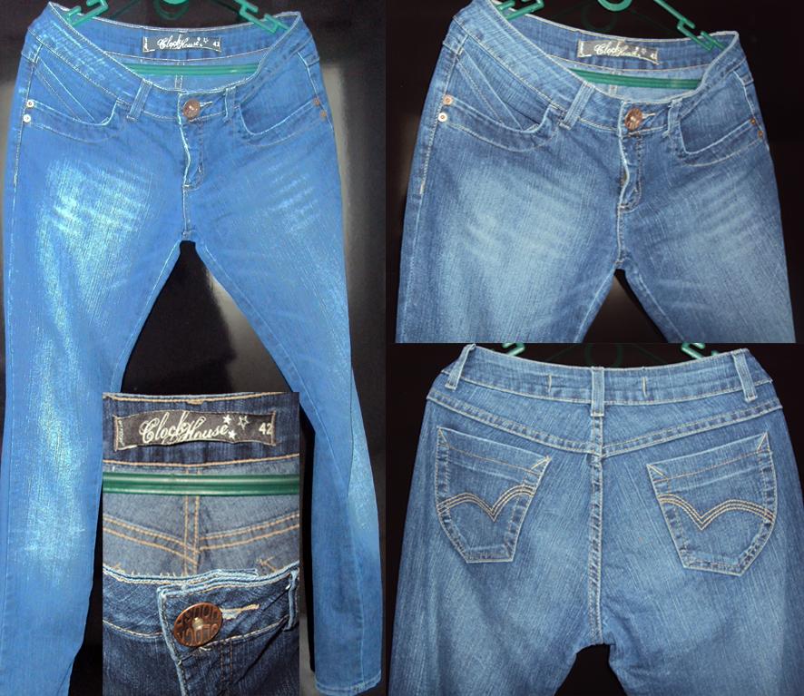 cc9ec6d44 VA)repaginando  Calça jeans Clock House Tam. 42