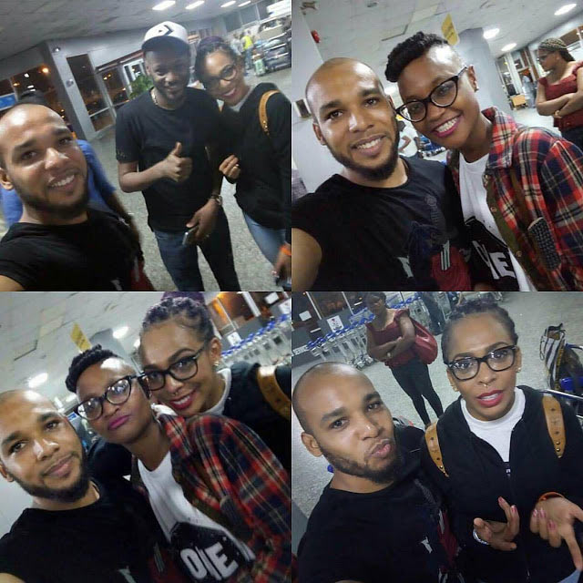 BBNaija: Fans besiege Tboss as she arrives Nigeria