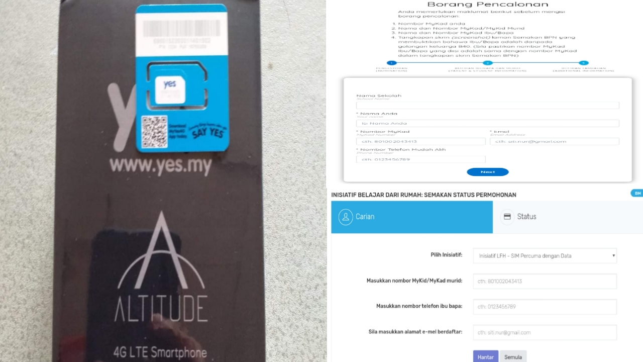 Permohonan dan Semakan Status Telefon Pintar Percuma B40 2021 Online