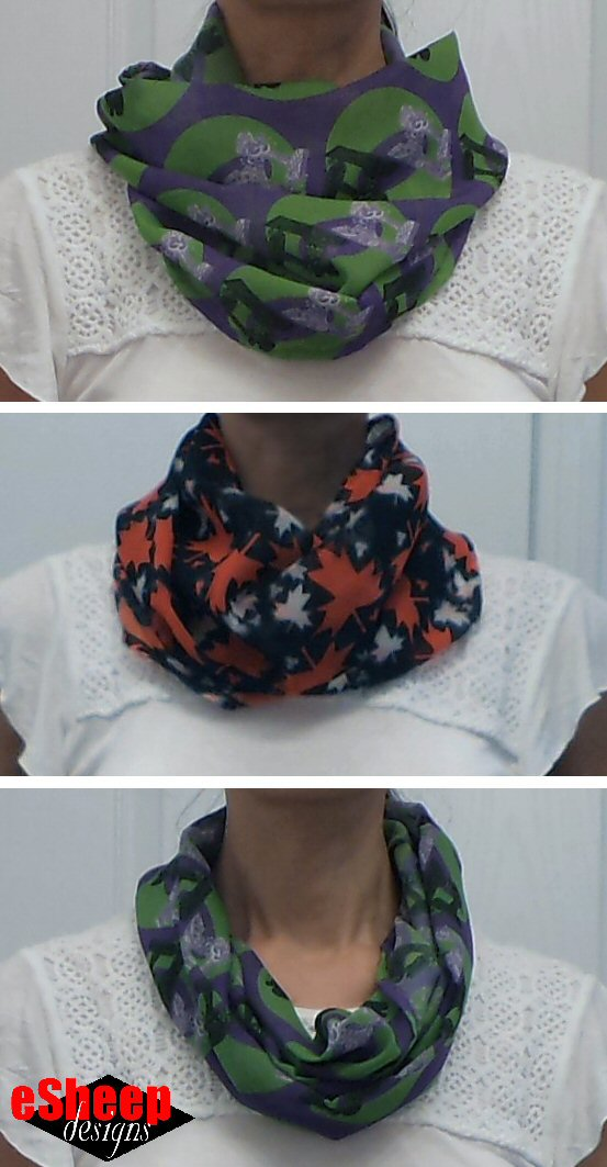 Mini Infinity Chiffon Scarf by eSheep Designs