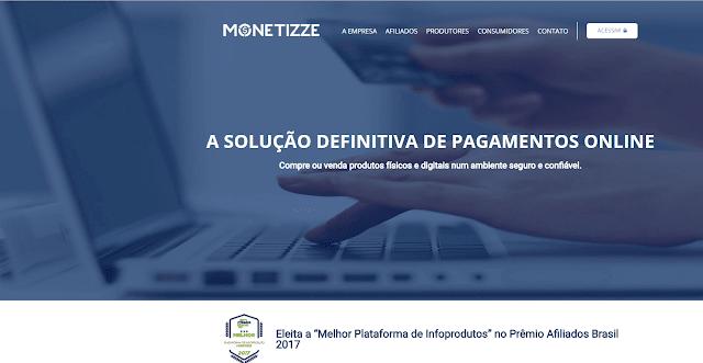 Site da Monetizze