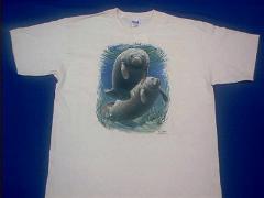 Manatee T Shirt by Anwo.com Animal World USA