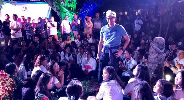 Sandiaga Uno Beri Wawasan Ekonomi pada Kaum Milenial Bali