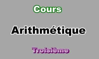 Cours Arithmétique 3eme en PDF