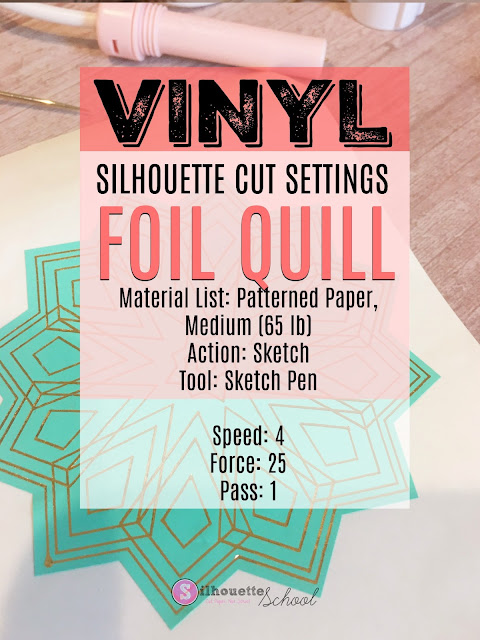foil quil, foil quill silhouette, foil quill designs, foil quill tutorials, Silhouette Cameo Tutorial