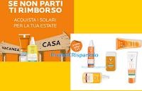 Logo Vichy Promo Solari 1+1 gratis e Cashback totale se non parti in estate. Scopri le due promozioni
