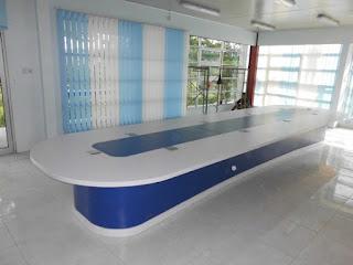 Meja Rapat Oval Panjang + Furniture Semarang (Meja Rapat)