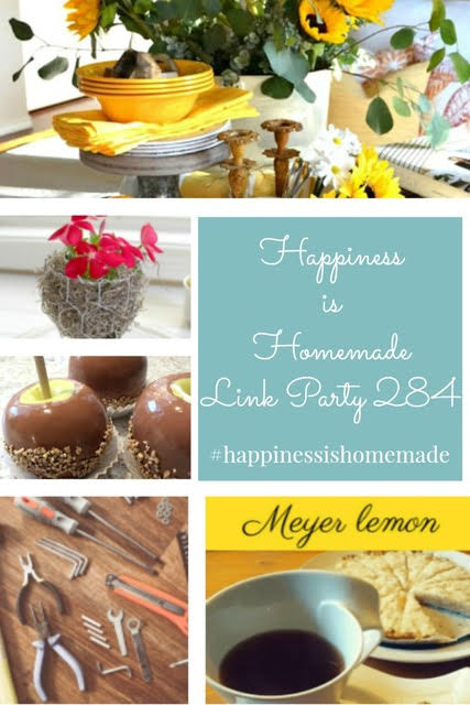Happiness is Homemade Link Party 284. Share NOW DIY, crafts, home decor, recipes with bloggers and readers. Sunday ~ Thursday. 9 hostesses. 5 features. #linkparty #linkparties #happinessishomemadelinkparty