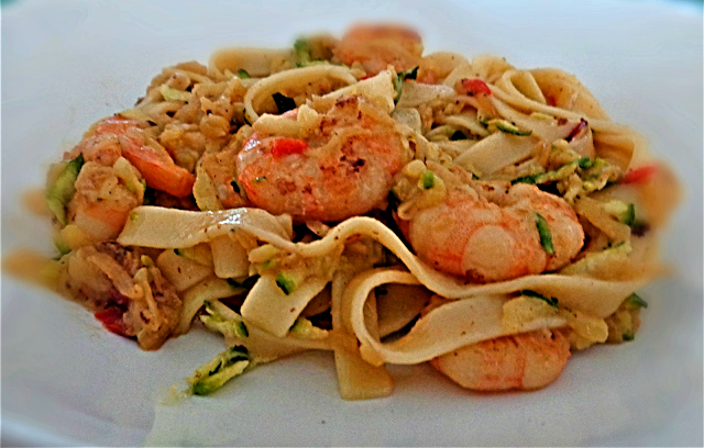 Prawns, Courgette, Linguine, Pasta, Recipe