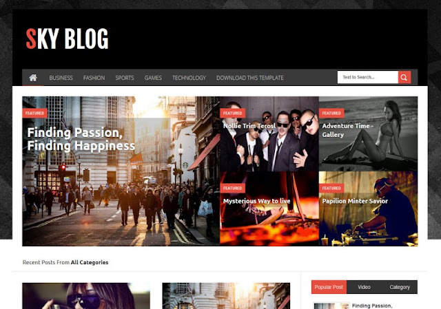 Sky Blog Blogger Template