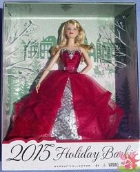 Barbie Coleção Feliz Natal 2015 na embalagem