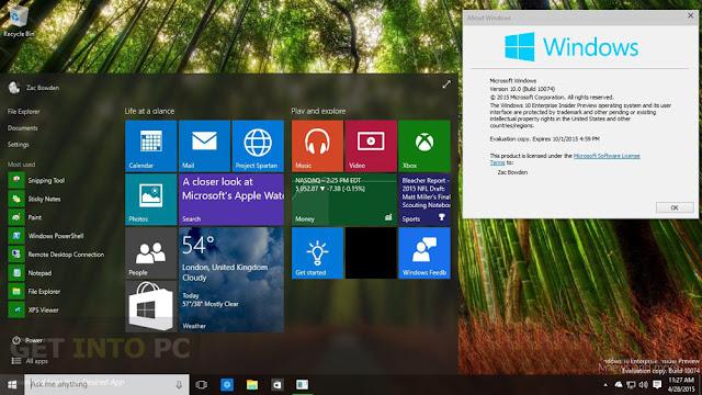 Windows 10 Pro Free download ISO