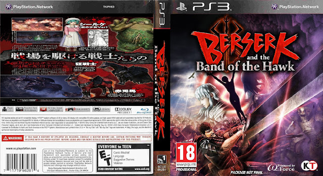 Capa Berserk And The Band Of The Hawk PS3