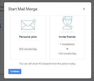 Select Plan Gmail mail merge