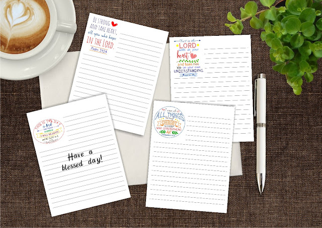FREE four Bible notepads