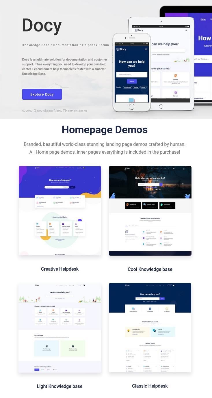 Documentation and Knowledge base WordPress Theme