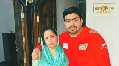 Pawan Sehrawat and his MOM