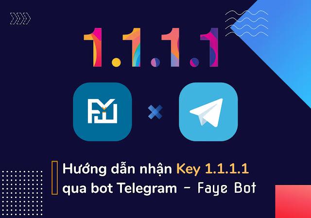 Hướng dẫn nhận key 1.1.1 Warp+ qua Bot Telegram