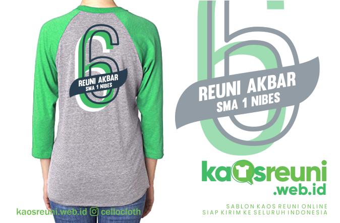 Contoh Desain Kaos Reuni 6 Tahun Alumni Angkatan Tahun 2013 - Kaos Reuni