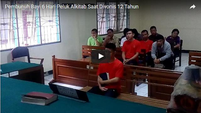 Peluk Alkitab Selama Persidangan, Ayah Pembunuh Bayinya Divonis 12 Tahun