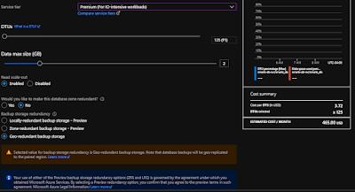 Azure SQL DB Premium tier