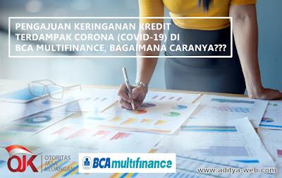 Tata Cara Pengajuan Keringanan Kredit Terdampak Corona (Covid-19) di BCA Multifinance