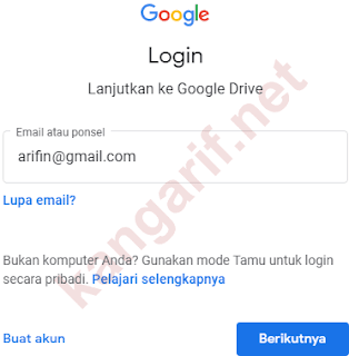 login ke google drive