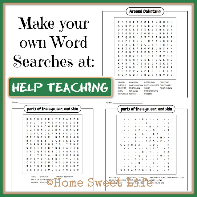 HelpTeaching.com, Online lessons, printable worksheets