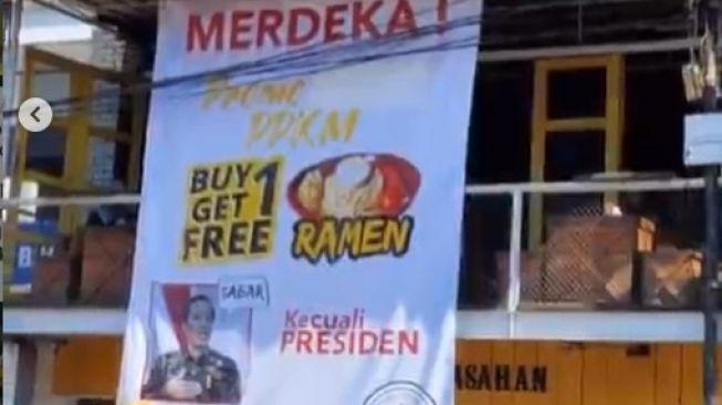 Ramen gratis kecuali presiden