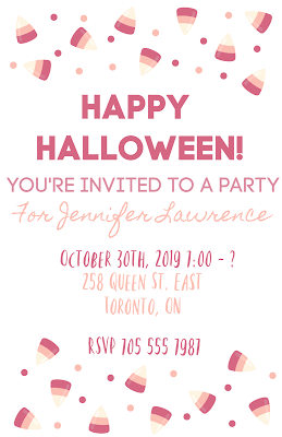 free candy corn invitations