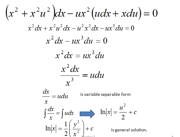 Method for solving homogeneous differential equation,scc,nda,cds,polytechnic notes,