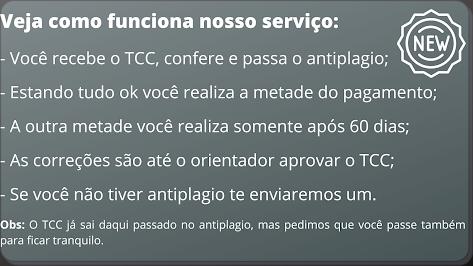 Comprar TCC em São Paulo - Pagamento após entrega