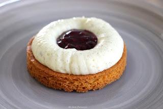 sablé breton avec crémeux vanille