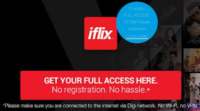 Digi Prepaid Free iflix Promo