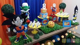 Decoração festa infantil Dragon Ball Porto Alegre